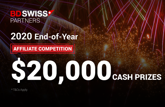 BDSwiss Launches 2020 EoY Affiliate Competition with $20,000 Total Prize Pool